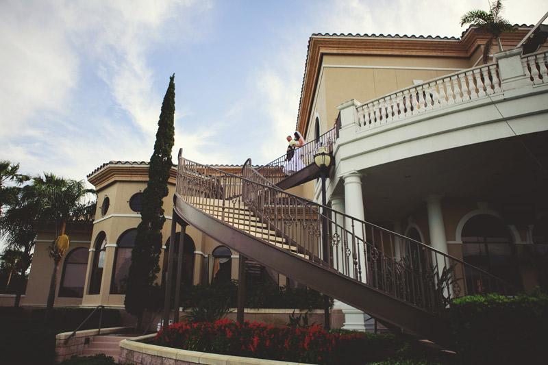 lakewood ranch wedding: bride coming down stairs