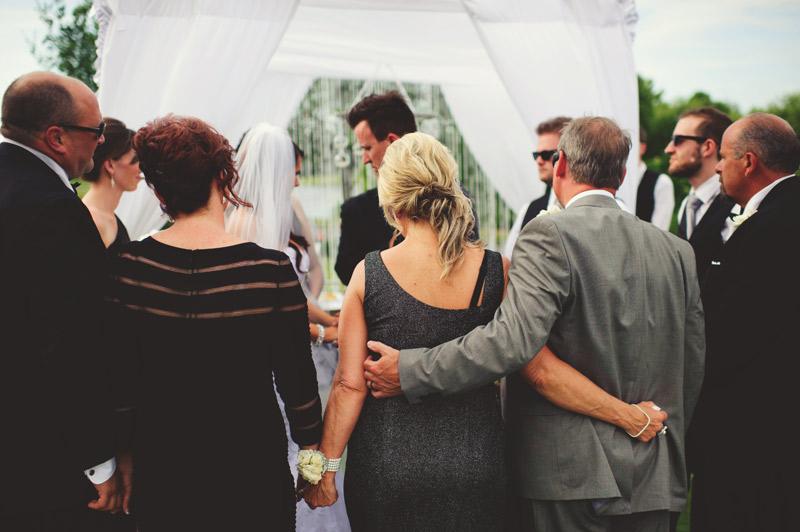 lakewood ranch wedding: praying over bride and groom