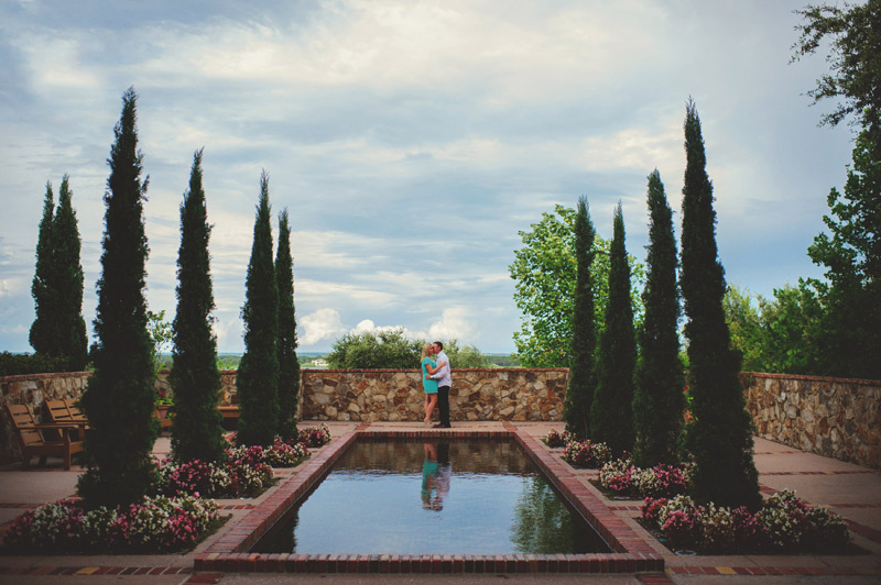 bella collina engagement session: reflecting pond