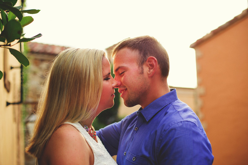 bella collina engagement session: romantic