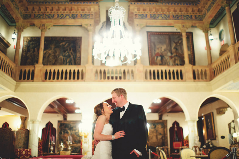 ringling museum wedding: happy bride and groom
