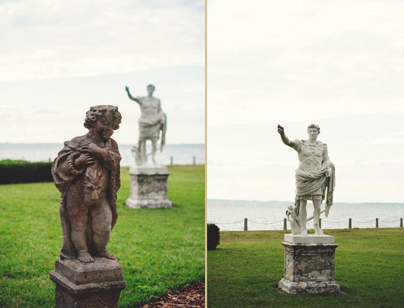 ringling museum wedding: statue