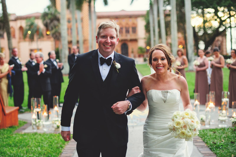 ringling museum wedding: recessional