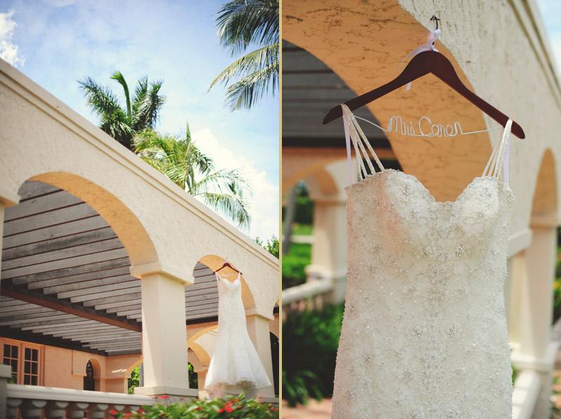 naples backyard beach wedding: dress