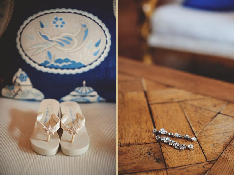 naples backyard beach wedding: shoes, jewelry