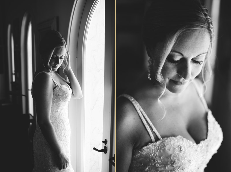 naples backyard beach wedding: window bridal portraits