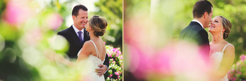 naples backyard beach wedding: bride and groom bokeh