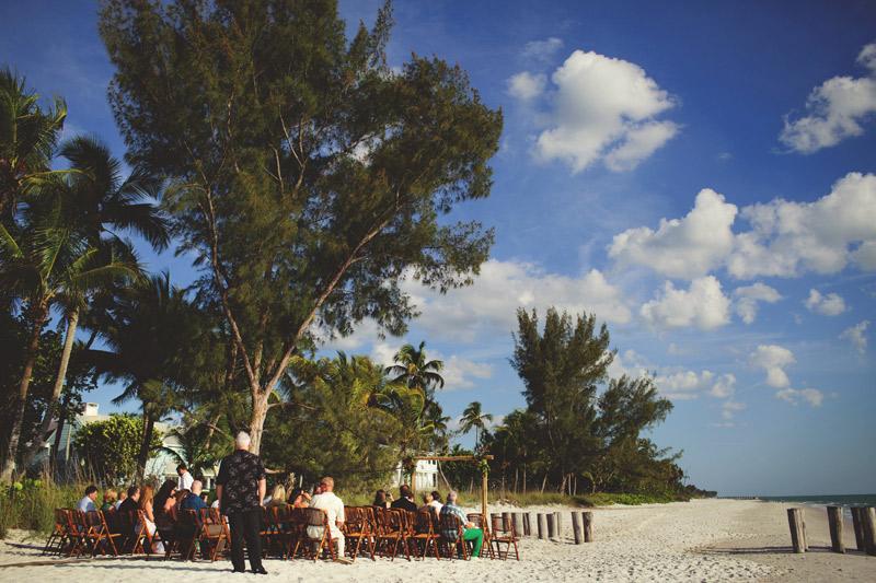 naples backyard beach wedding: ceremony