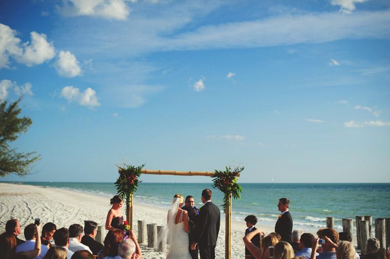 naples backyard beach wedding: wedding ceremony