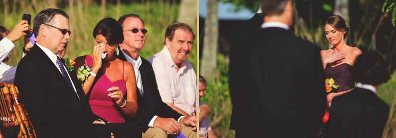 naples backyard beach wedding: emotions