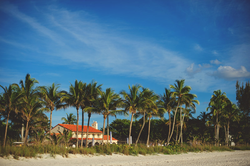 naples backyard beach wedding: beach house