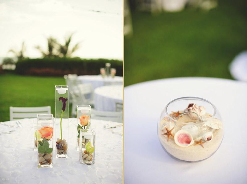 naples backyard beach wedding: flowers, details