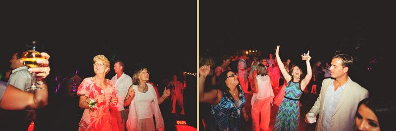 naples backyard beach wedding: reception dancing guests