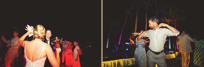 naples backyard beach wedding: reception dancing groom, bride, and guests