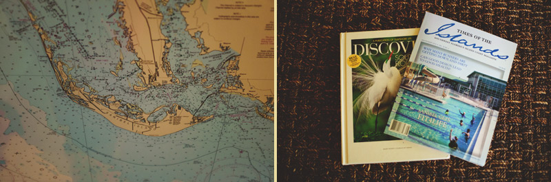 sanibel island wedding: map magazines