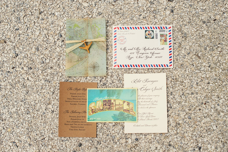 travel florida wedding invitations