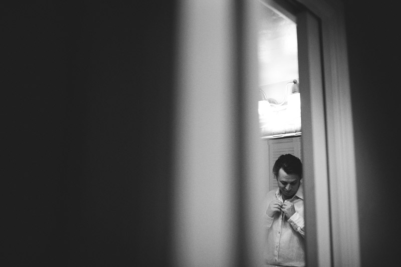 sanibel island wedding: groom getting ready