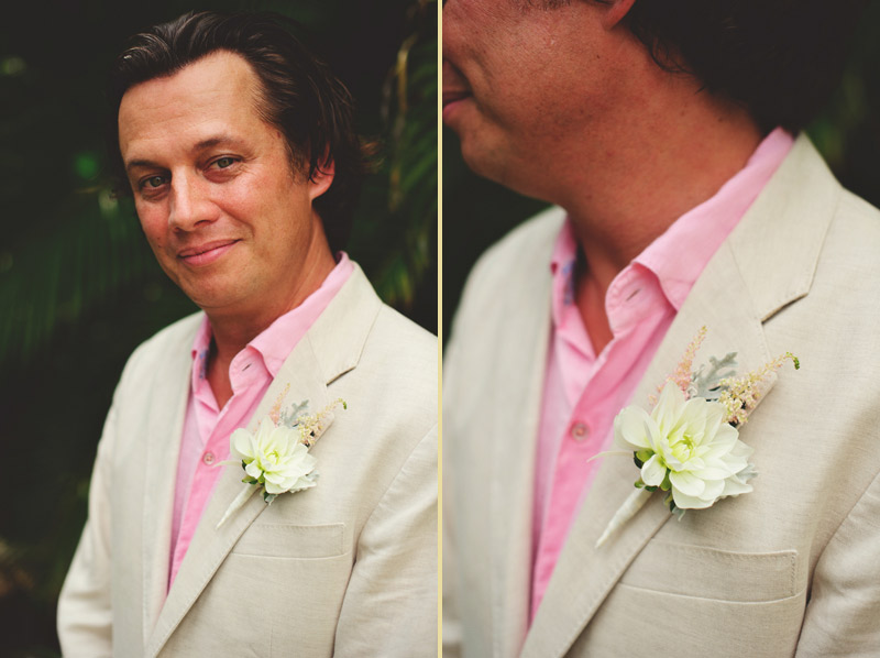 sanibel island wedding: groom and boutonniere libbys flowers