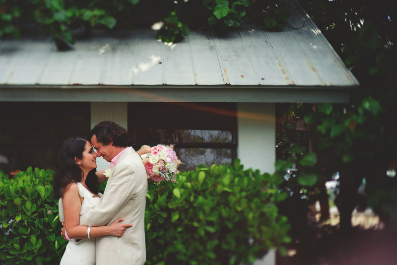 sanibel island wedding: romantic bride and groom