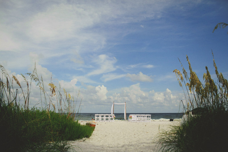 sanibel island wedding: ceremony site