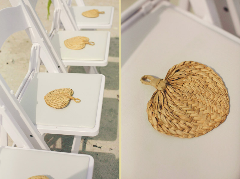 sanibel island wedding: ceremony chairs