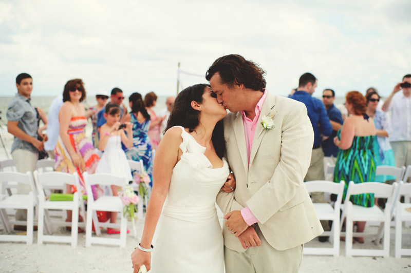 sanibel island wedding: recessional