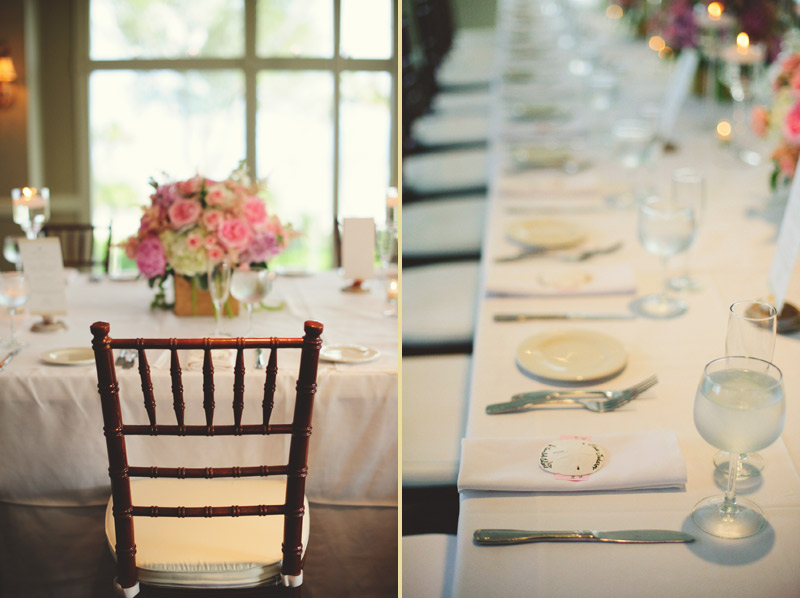 sanibel island wedding: reception details