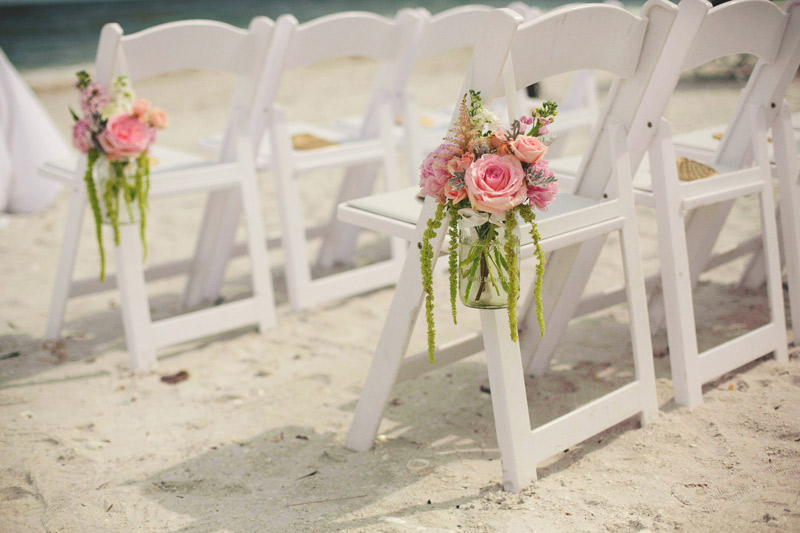 sanibel island wedding: peonies and roses