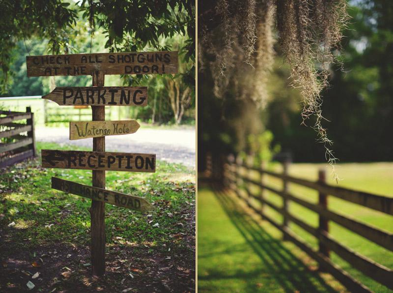 the glen venue wedding: direction sign