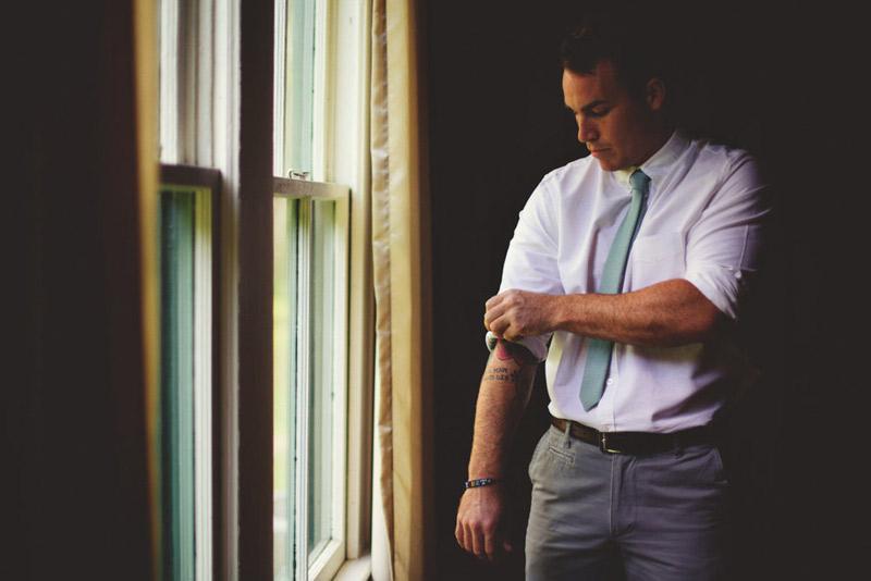 the glen venue wedding: groom getting ready