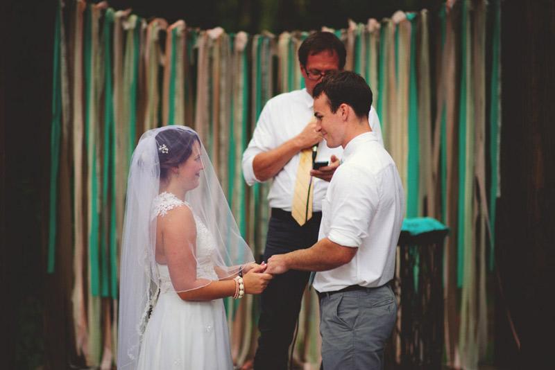 the glen venue wedding: ring exchange