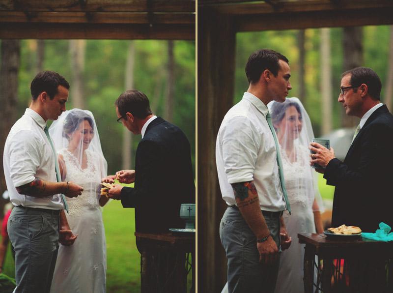 the glen venue wedding: breaking the bread