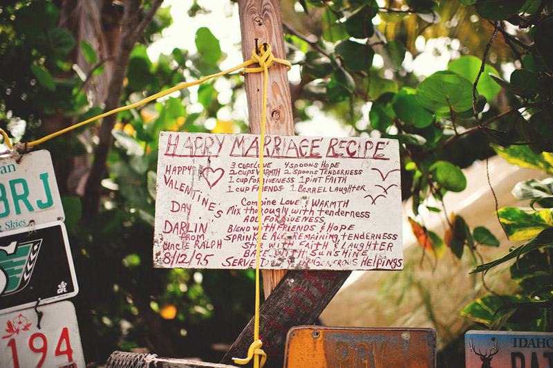 harbour island bahamas wedding: marriage sign