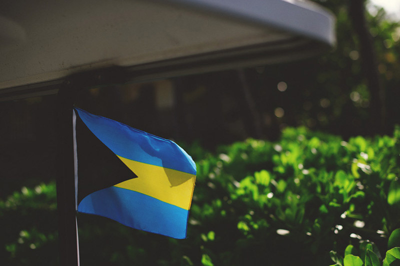 harbour island bahamas wedding: bahamian flag