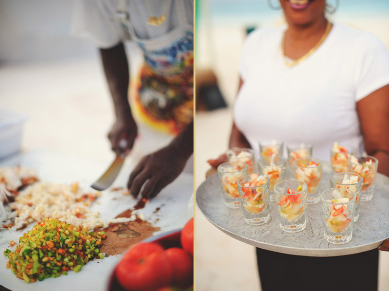 harbour island bahamas rehearsal beach dinner: king conch salad