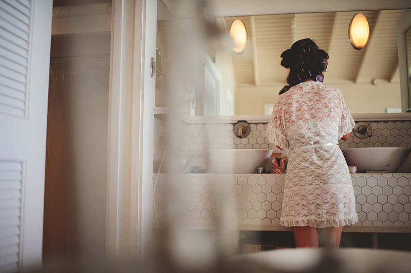 harbour island bahamas wedding: bride getting ready
