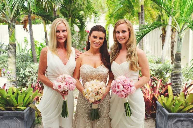 harbour island bahamas wedding: bridemsaids