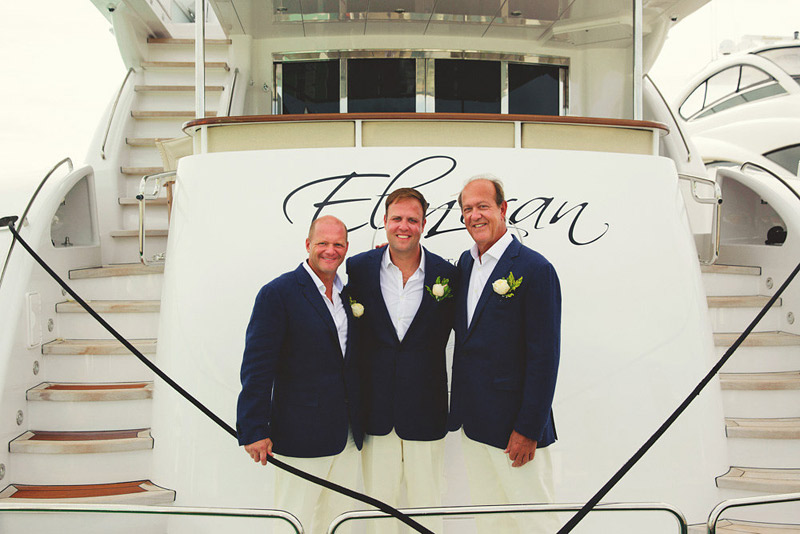 harbour island bahamas wedding: groomsmen