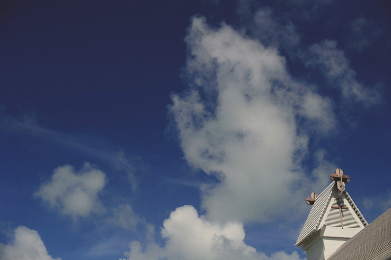 harbour island bahamas wedding: church steeple