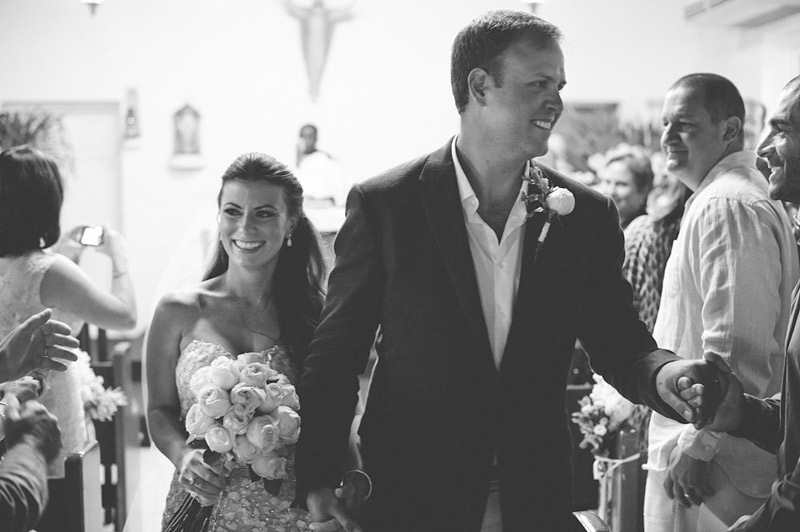 harbour island bahamas wedding: recessional
