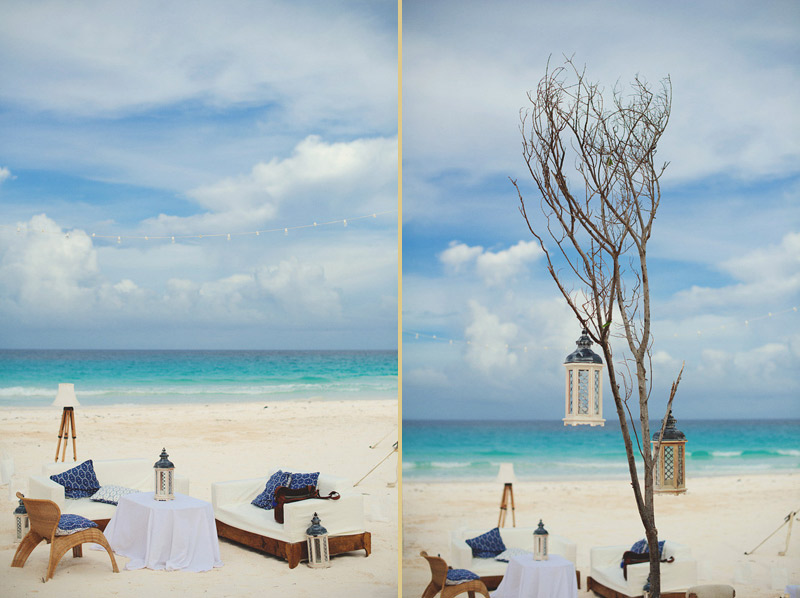 harbour island bahamas wedding: reception decor