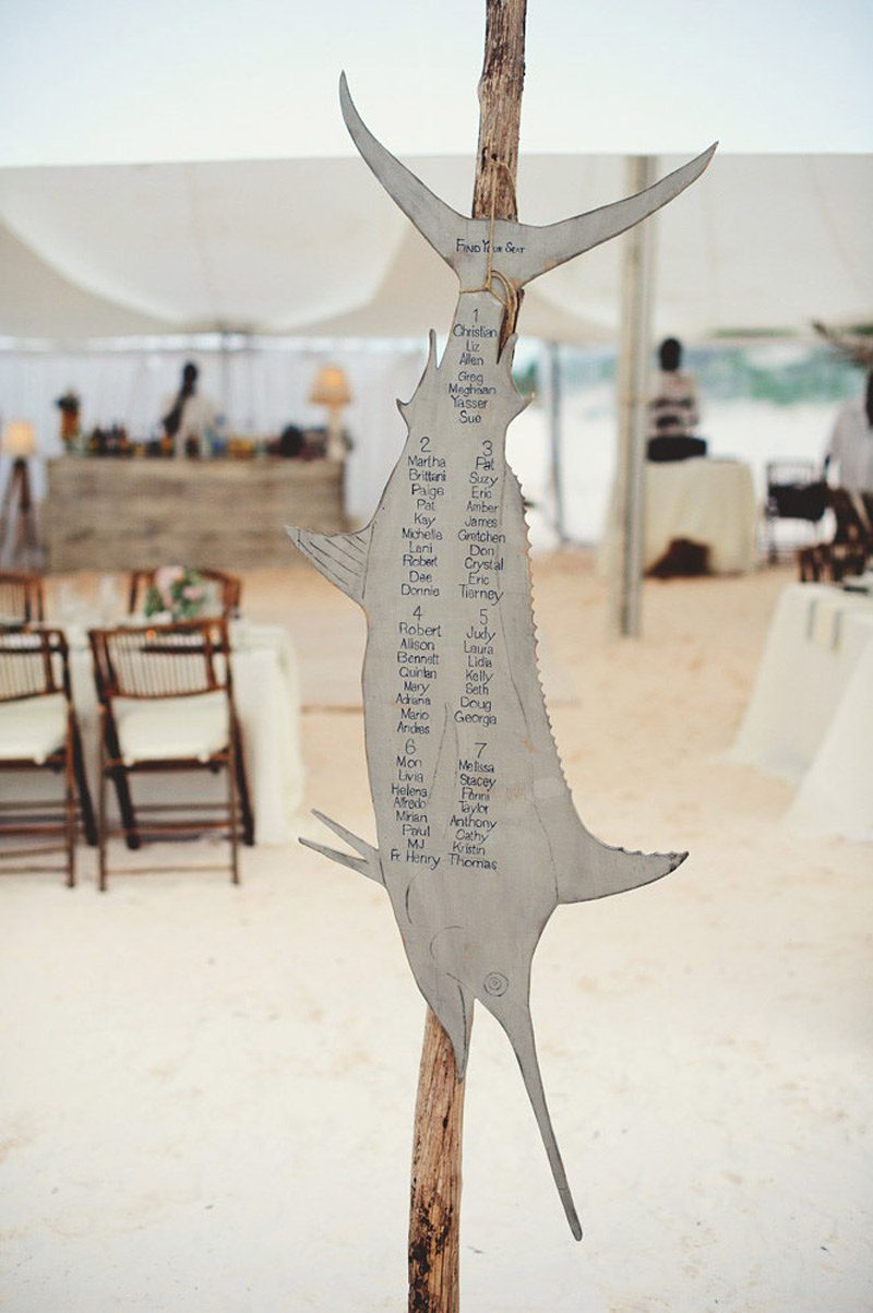 harbour island bahamas wedding: seating chart