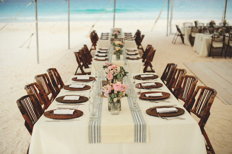 harbour island bahamas wedding: table setting