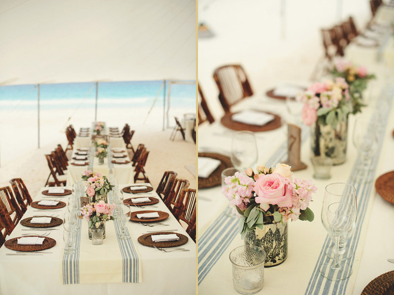 harbour island bahamas wedding: table scapes