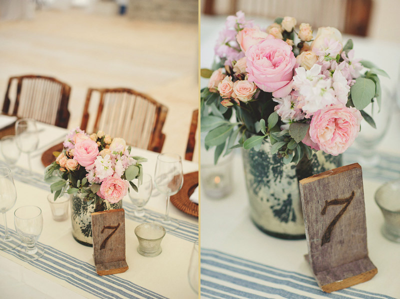 harbour island bahamas wedding: table numbers