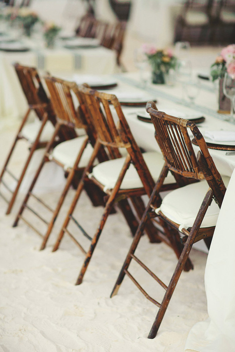 harbour island bahamas wedding: bamboo chairrs