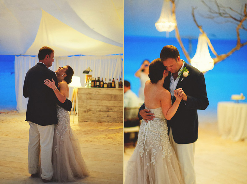 harbour island bahamas wedding: bride and groom dancing