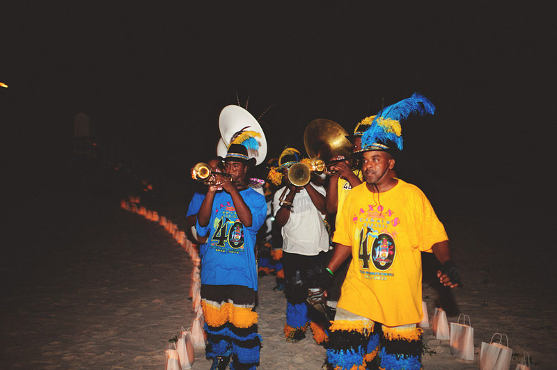harbour island bahamas wedding: junkanoo band