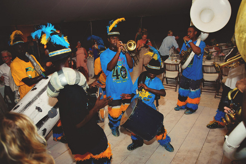 harbour island bahamas wedding: junkanoo 2nd line
