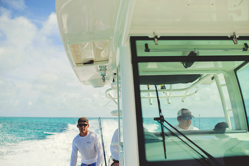 harbour island bahamas wedding: on a boston whaler